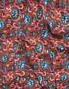 Online Shopping for Red Pure Rajasthani Cotton Fabric with Kalamkari Prints from Rjasthan at Unnatisilks.comIndia