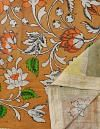 Online Shopping for Orange Floral Kalamkari Hand Painted Pure Cotton Dupatta with Kalamkari Hand Paints from Andhra Pradesh at Unnatisilks.comIndia
