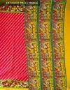 Online Shopping for Pink Ikat Printed Pochampally Kalamkari Art Silk Saree with  from Andhra Pradesh at Unnatisilks.com, India