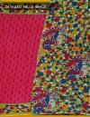 Online Shopping for Pink-Green Kalamkari Soft Art Silk Saree with Fancy, Kalamkari Prints from Andhra Pradesh at Unnatisilks.com, India
