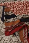 Online Shopping for Red Pure Kota Cotton Saree with Batik Prints from Rajasthan at Unnatisilks.comIndia