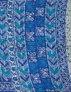 Online Shopping for Blue Pure Ikat Pochampally Cotton Saree with Weaving from Madhya Pradesh at Unnatisilks.comIndia