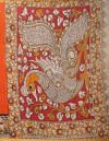 Online Shopping for Orange Pure Kalamkari Cotton Saree with Kalamkari from Rajasthan at Unnatisilks.comIndia
