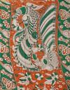 Online Shopping for Green Pure Kalamkari Cotton Saree with Kalamkari from Rajasthan at Unnatisilks.comIndia