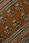 Online Shopping for Green Pure Bagru Printed Mulmul Cotton Saree with Bagru from Rajasthan at Unnatisilks.comIndia