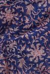 Online Shopping for Blue Pure Block Printed Mulmul Cotton Saree with Hand Block Prints from Rajasthan at Unnatisilks.comIndia