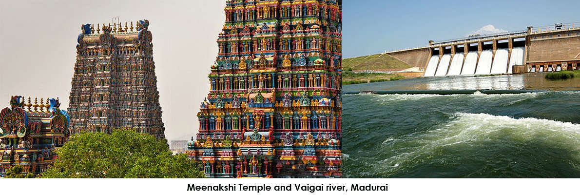 Madurai is a major city of Tamil Nadu, India. It is located on the banks of river Vaigai.
