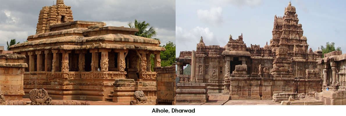 130kms from Dharwad, Aihole is historically famous as the cradle of Hindu temple architecture. There are about 125 temples divided into 22 groups scattered all over the villages and nearby fields.