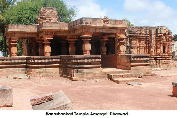Banashankari Temple at Amargol is 4 km from Unkal lake and Chandramouleshwara Temple Hubli. A 13th century temple that comes under the Archaelogical Survey of India, it is a rare temple with stepped diamond type of architecture. Close by is another architectural marvel by the renowned sculptor Jakkanacharya.