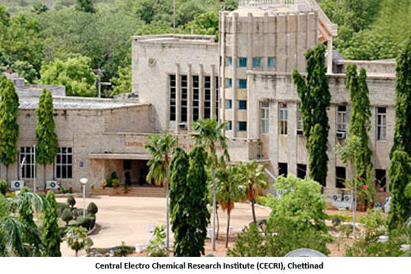 the Central Electro Chemical Research Institute (CECRI) at the principal town Karaikudi.