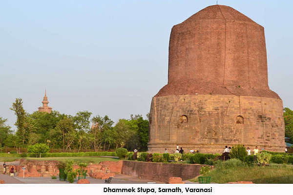 Dhammek Stupa is an important place of Buddhism. Everyone visiting Varanasi must visit Sarnath which is close by - about 8 kms from the cantonment area.