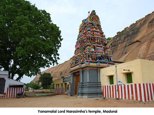 8 km from this temple is Lord Narasimha's temple in the