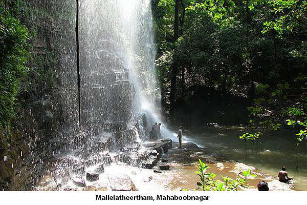 Mallelatheertham is one of the most pleasant places in Mahaboobnagar is Mallelatheertham. It is a wonderful waterfall located in the Nallamala forest region on the way to Srisailam. It is a beautiful place to visit for the Lovers of Nature.