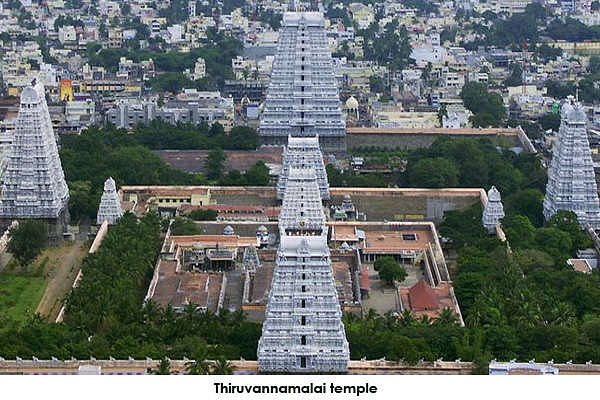 Thiruvannamalai temple is one of the largest temples in India. It is dedicated to Lord Shiva in the form of Fire. It is part of five pancha bhootha siva temples dedicated to wind, water, earth, sky and fire.