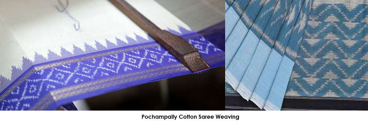Pochampally Cotton Saree Weaving