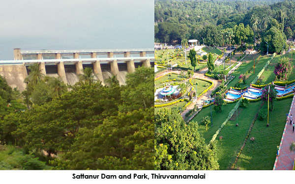 Built across River Pennar is the Sathurnur Dam, which is a popular tourist attraction in Thiruvannamalai