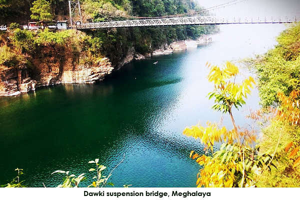 Dawki town is in Jaintia hills and is a road border crossing between India and Bangla Desh.