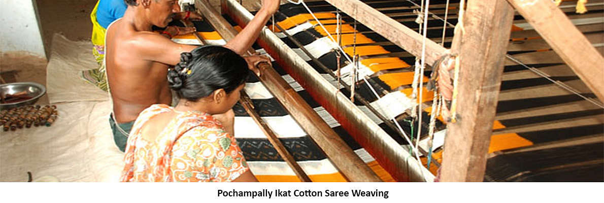 Pochampally in Andhra Pradesh and Rajkot Patola weave of Gujarat are famous for their individual brand of ikkat sarees.