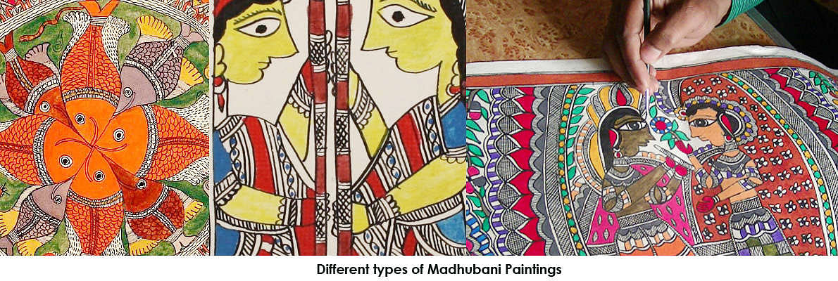 Madhubani art has five distinctive styles - Bharni, Katchni, Tantrik, Nepali and Gobar. In the 1960s Bharni, Kachni and Tantrik style were mainly done Brahman & Kayashth women, who are upper caste women in India and Nepal.