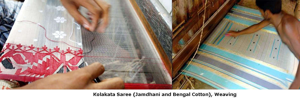 Kolkata has fast emerged as the marketing hub with thousands of textile shops and markets devoted to handlooms owing to the proximity of hubs of traditional excellence that have flourished since long in its proximity.